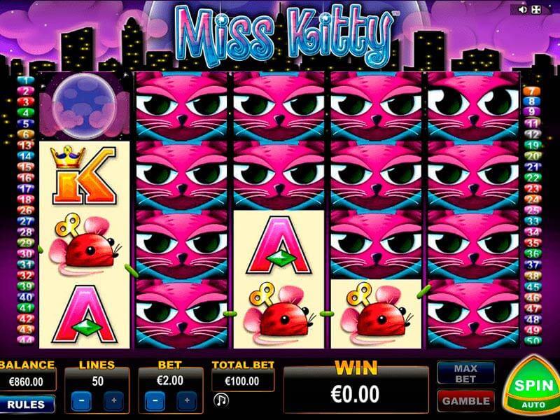 7bf5757809e Miss Kitty – Reseña de tragamonedas Gratis. juego de prueba