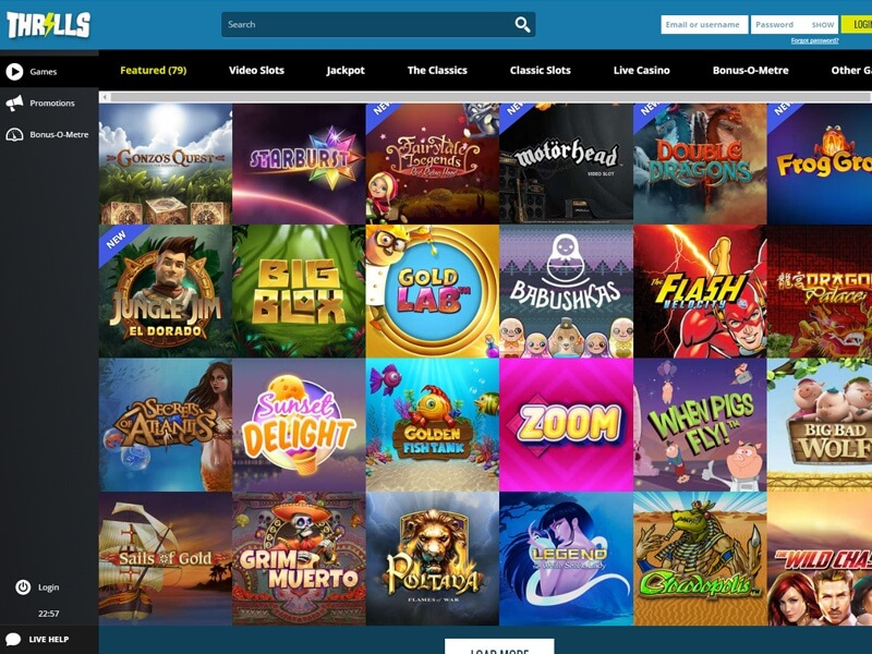 Image result for Thrills Casino Review