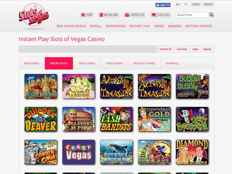 Slots Of Vegas Casino Review