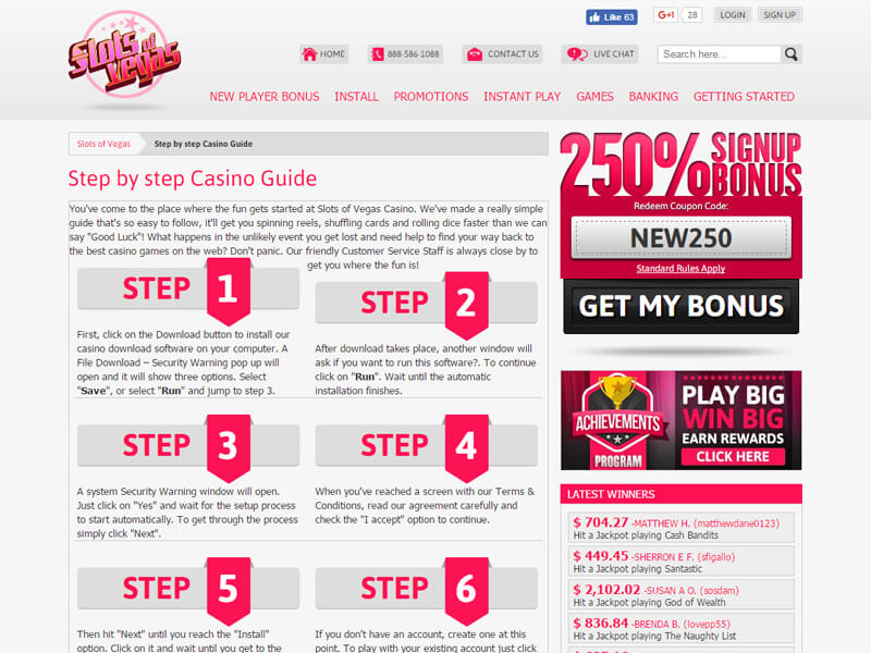 Trusted Slots of Vegas Casino review, including real players\\' reviews and ratings, games, complaints, latest bonus codes and promotions.Check out their latest promotion: Slots of Vegas Casino: % Match Deposit Bonus + 50 Bonus Spins and claim your bonus.