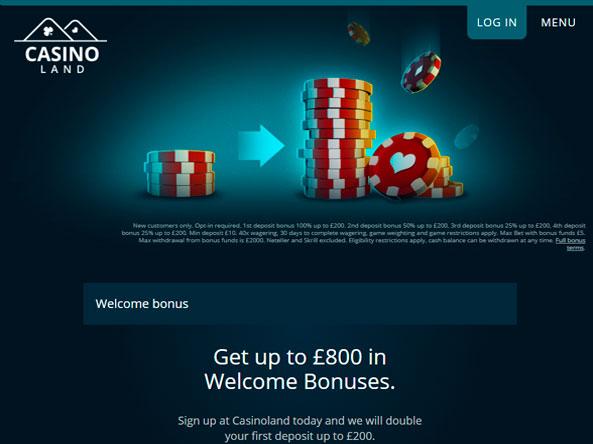 Casinoland no deposit free spins 2019