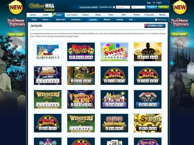 online william hill casino video slots