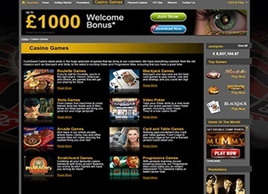 Eurogrand casino play online bonus