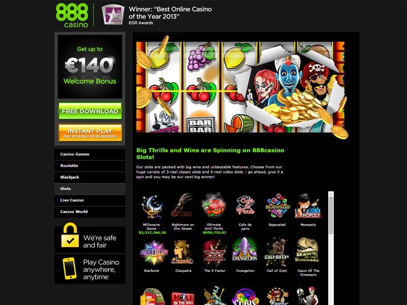 888 casino play online