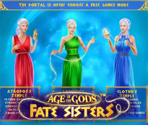 Try your luck at a new Age of Gods Fate Sisters slot in BGO Casino