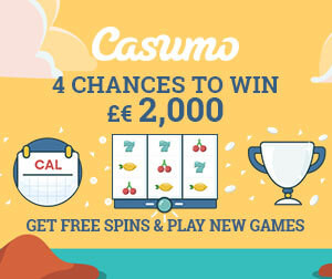 Fantastic offer at Casumo this week: new games, bigger prized Reel Races and free spins