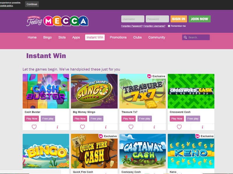 Mecca bingo slots promotions all star poker