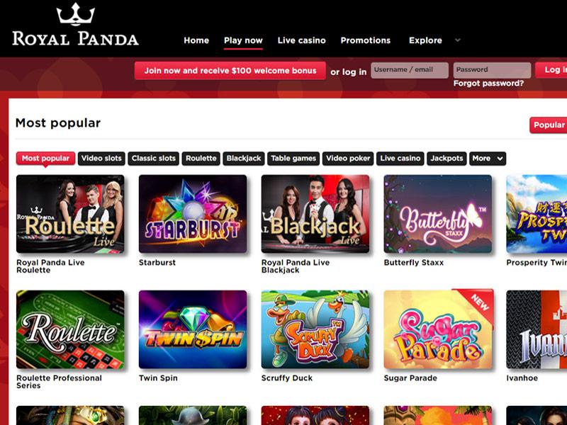 panda online casino