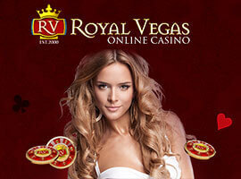 Royal Vegas Casino video slots, table games and live dealer
