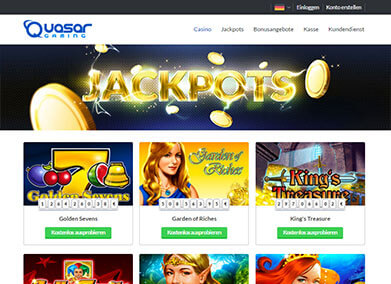 online casino willkommensbonus quasar game