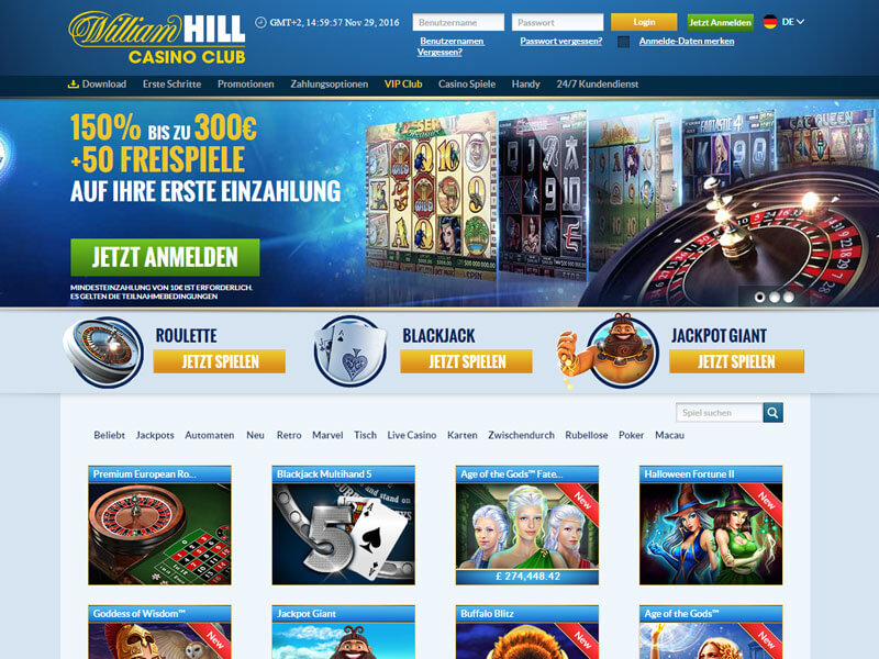 william hill online slots online um geld spielen