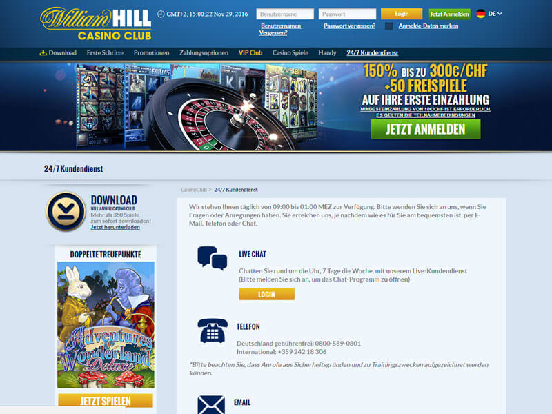 william hill online casino online um geld spielen