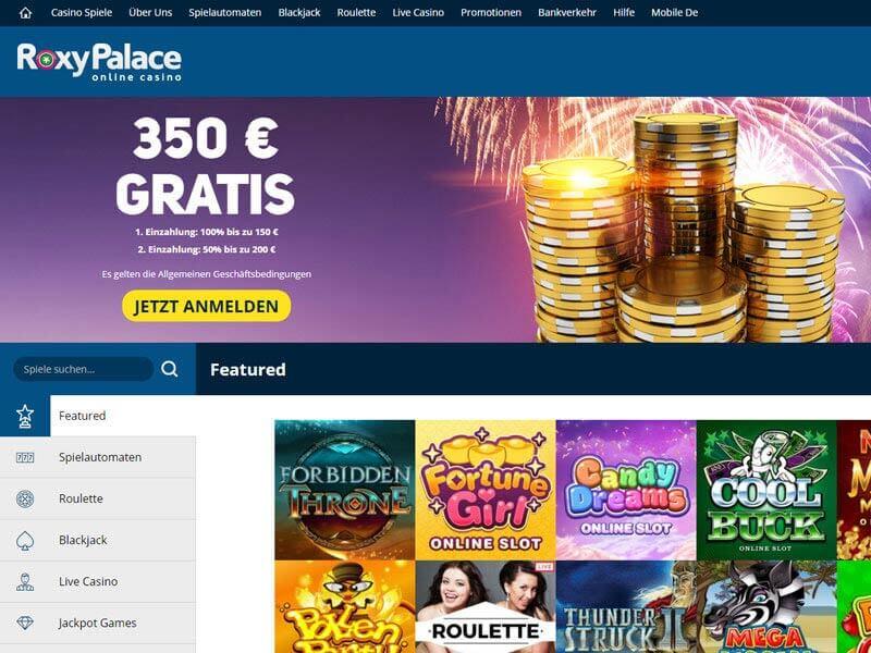 roxy palace online casino spiele online mit anmeldung