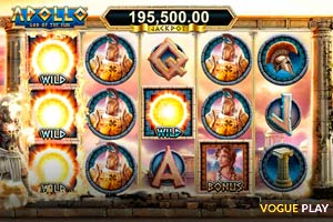 Der neue Spielautomat Apollo God of the Sun von Geentube