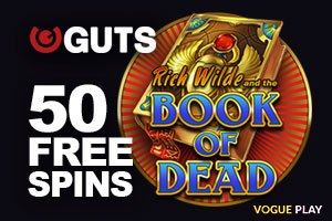 Crazy 50 Book of Dead Spins im Guts Casino