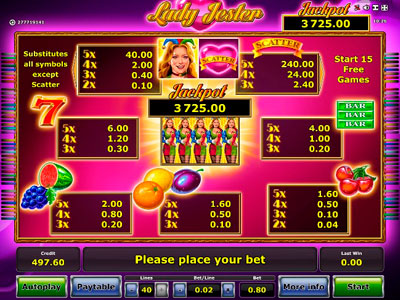 Lady Jester Slot
